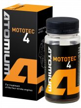 Engine oil additive Atomium MOTOTEC 4 for the engine oil of motorbike