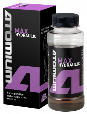Hydraulic oil additive | Atomium MAX Hydraulic | to reduce friction, restore power of a hydraulic system