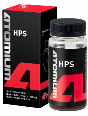 Power steering pump treatment | Atomium HPS | hydraulic fluid additive to stop noise at steering | to restore pressure, reduce noise and facilitate steering wheel rotation